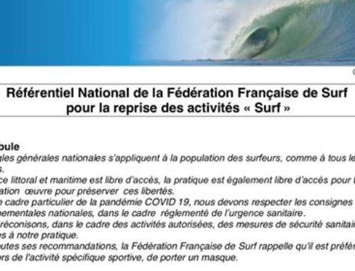 RÉFÉRENTIEL NATIONAL DE REPRISE DES ACTIVITÉS SURF